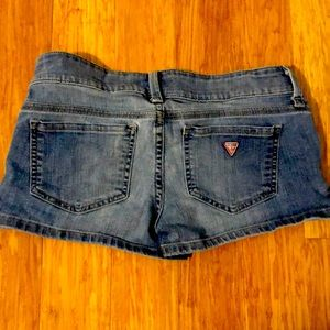 Barely worn Guess Jeans denim short. size 26